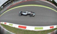 Hamiltons ātrākais arī trešajā treniņu sesijā Moncā