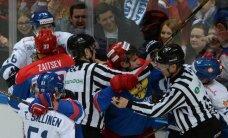 Znaroka un Vītoliņa trenētā Krievijas hokeja izlase pārbaudes spēlē piekāpjas Somijai