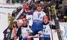 Норвегия выиграла и мужскую эстафету, Канада сенсационно в тройке, Россия снова без медалей
