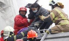 Foto: Taivānu satricina spēcīga zemestrīce; 14 bojāgājušie