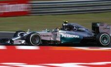 'Mercedes' ātrākie pirmajā Krievijas GP treniņā