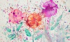 Interjera aktualitāte – izplūdušas krāsas laukumi uz sienām