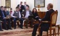 Putina ķermeņa valoda izrādīja nemieru un agresiju, uzskata eksperti
