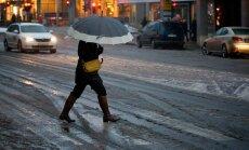 Sestdien būs nelieli nokrišņi – sniegs, kas pāries lietū