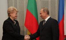 Грибаускайте: с первой встречи с Путиным я получила список требований
