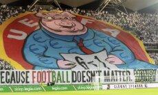 UEFA soda 'Legia' par aizvainojošu plakātu
