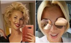 Samanta Tīna atrāda jaunu matu sakārtojumu