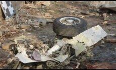 Nofilmēta otrdien ASV avarējušās privātās lidmašīnas nokrišanas vieta