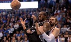 'Spurs' atspēlē 21 punkta deficītu un izrauj uzvaru pār 'Thunder'