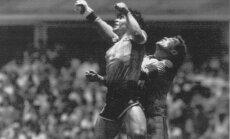 June 22, 1986 Diego Maradona scores goal by hands england goalkeeper Peter Shilton