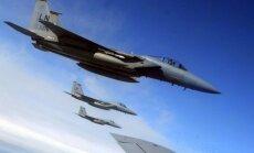 Šauļos bāzētie NATO iznīcinātāji pagājušajā nedēļā divreiz cēlušies pavadīt Krievijas lidmašīnas