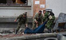 Luhanskā uzlidojumā iznīcina nemiernieku mīnmetējus; pilsētā nogrand sprādziens (plkst.16:30)