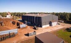 Foto: 'Pindstrup Latvia' atklāj Baltijā modernāko kokšķiedras rūpnīcu