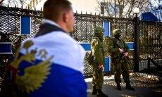 'Pašaizsardzības vienības' Latvijas un Lietuvas vēstniekiem agresīvi bloķē ieeju Ukrainas armijas štābā