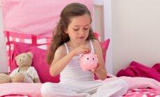 Padomi bērniem: Kā iekrāt naudiņu un spēt savaldīt roķeles drošā attālumā no krājkases