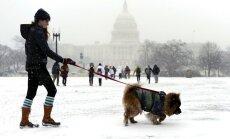 ASV atkal piedzīvo smagu sniega vētru