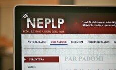 NEPLP lems par kanāla 'Rossija RTR' retranslācijas ierobežošanu