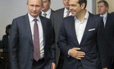 Krievija un Grieķija paraksta memorandu par gāzesvada būvniecību