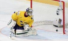 Zviedrija hokeja izlase čempionātam piesaka vārtsargu