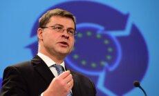 Kaujas pie Doņeckas ir nepārprotams Minskas vienošanās pārkāpums, uzskata Dombrovskis