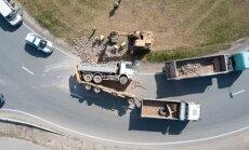 Drona foto: Lielizmēra avārija Koknesē