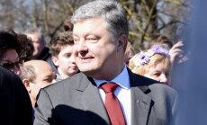 Porošenko: sekojot Latvijas piemēram, Ukraina cer uz drīzu iestāšanos ES