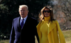 ФОТО, ВИДЕО: Что-то снова не так. Миссис Трамп опять оттолкнула президента