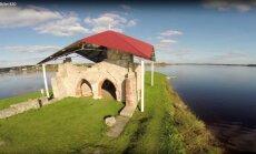 Līdz Sv. Meinarda salai Daugavā var aiziet kājām, jo Rīgas HES pazemināts ūdens līmenis