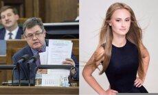 Deputāta Seržanta meita cīnās par Latvijas skaistāko matu īpašnieces titulu