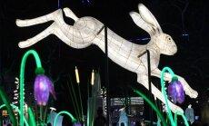 Foto: Gaismas festivāls 'Lumiere' pārvērš Londonu maģiskā mākslas darbā