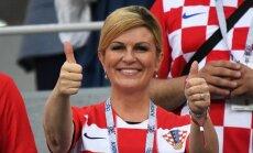 ФОТО: Эффектная президент Хорватии тоже прилетела в Россию на футбол