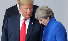 Tramps kritizē Lielbritānijas valdības nostāju 'Brexit' sarunās