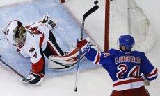 Stenlija kauss: Ņujorkas 'Rangers' noķer Otavas 'Senators' un izlīdzina rezultātu sērijā