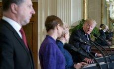 Tramps Baltijas prezidentu vizīti izmantojis iekšpolitiskiem mērķiem, uzskata lietuviešu eksperti