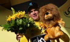 Kopvērtējuma līderis Frūms uzvar 'Tour de France' 18.posmā