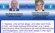 Krievijas vēstnieki noklausītā sarunā sprieduši par Latvijas un citu valstu pievienošanu