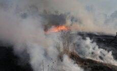 Aizvadītajās brīvdienās dzēsti 36 kūlas ugunsgrēki