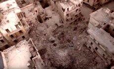 Video: Alepo pārvēršas pelēkā gruvešu kaudzē
