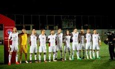 Latvijas futbolisti Pasaules kausa kvalifikācijas spēlē uzņem Fēru salas