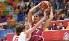 Latvijas basketbolistes Eiropas čempionāta spēlē izcīna svarīgu uzvaru pret Melnkalni