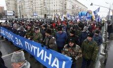 Maskavā notiek Putina atbalstītāju gājiens