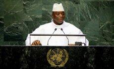 Gambijas prezidents pats gejiem sola pārgriezt rīkles