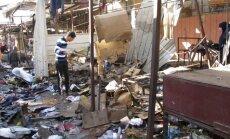Divos sprādzienos Bagdādē vismaz 35 upuri