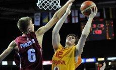Porziņģis iekrāj 'double-double' uzvarētā Spānijas čempionā mačā