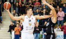 'VEF Rīga' un 'Ventspils' basketbolisti LBL spēlēs gūst drošas uzvaras