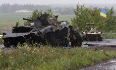 Daļa naktī Ukrainā iebraukušās Krievijas tehnikas iznīcināta, paziņo Porošenko