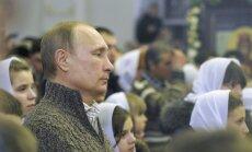 ФОТО: Путин встретил Рождество в сельском храме под Воронежем