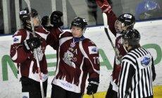 'Rīga' atspēlējas un MHL mačā pieveic 'Sahaļinskije akuli' hokejistus