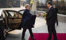 Lietuvas prezidente kļūst par Ukrainas Gada cilvēku
