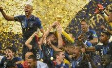 Francijas futbolisti rezultatīvā finālā kļūst par Pasaules kausa ieguvējiem